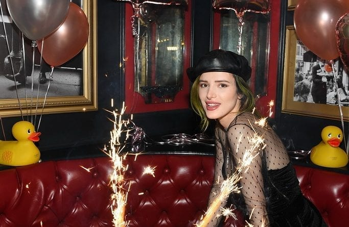 Bella Thorne enjoys Sugar Factory's world famous King Kong Sundae