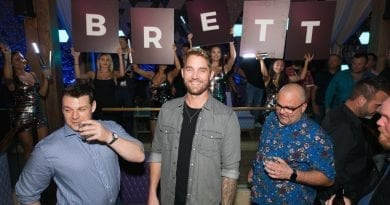 Chart-topping Country Artist Brett Young Smiles in Celebration of Official Bachelor Party at OMNIA Nightclub Las Vegas on Sunday, Sept. 30_ Photo Credit Mike Kirschbaum