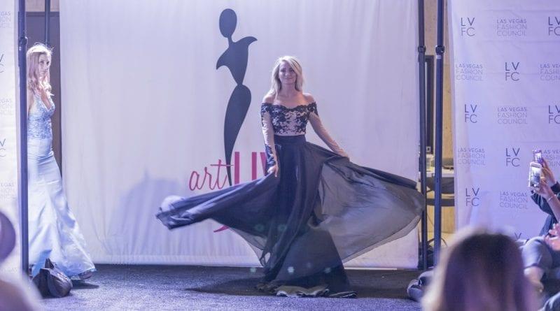 Las Vegas Fashion Council - Beautiful gown makes debut during fashion show. Photo Credit_ Joel Cada