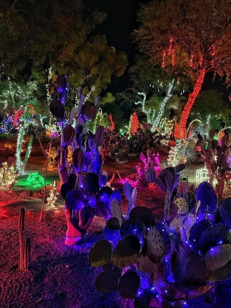 Ethel M Chocolates 25th Annual Holiday Cactus Garden Lighting Photos Travelivery Las Vegas