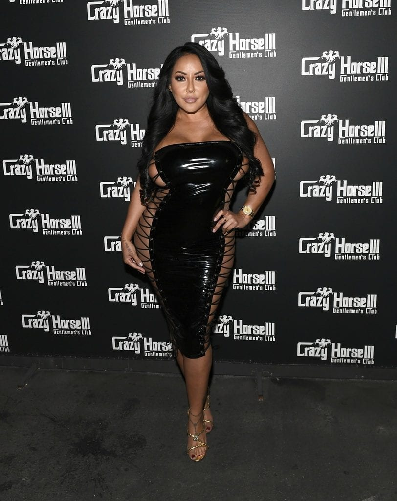 Kiara Mia on Crazy Horse 3 Red Carpet