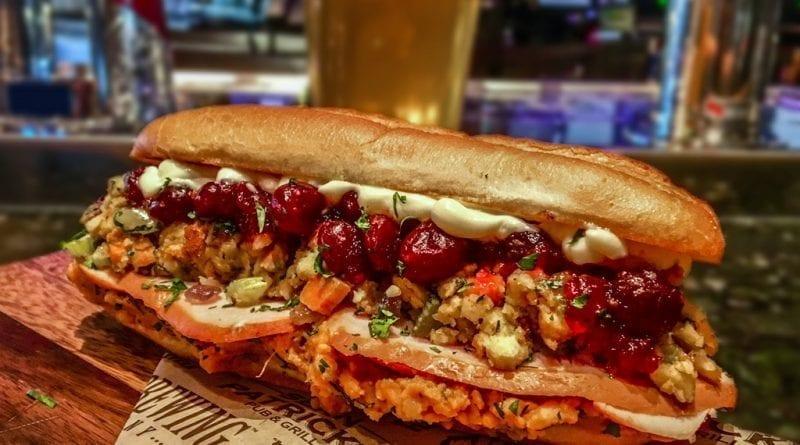 PT's Taverns - Thanksgiving Sandwich