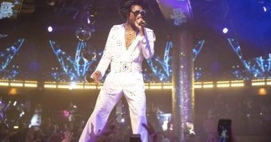 Wiz Khalifa as Elvis Presley at Drai's Nightclub