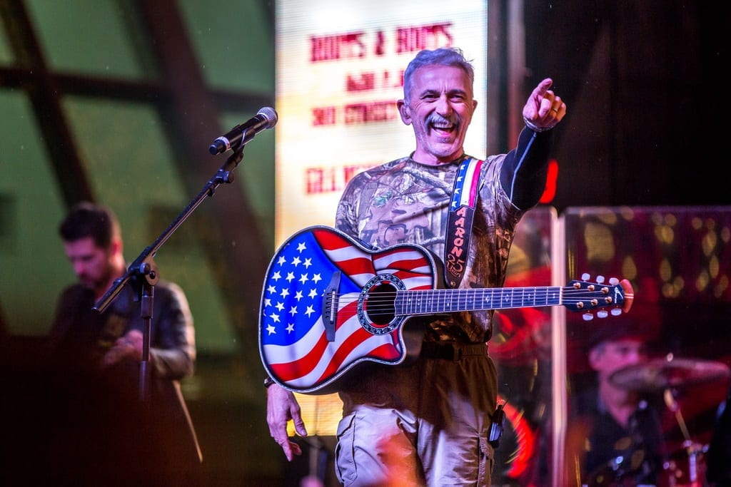 Aaron Tippin performs during 32nd Annual Downtown Hoedown at Fremont Street Experience, 12.5.18