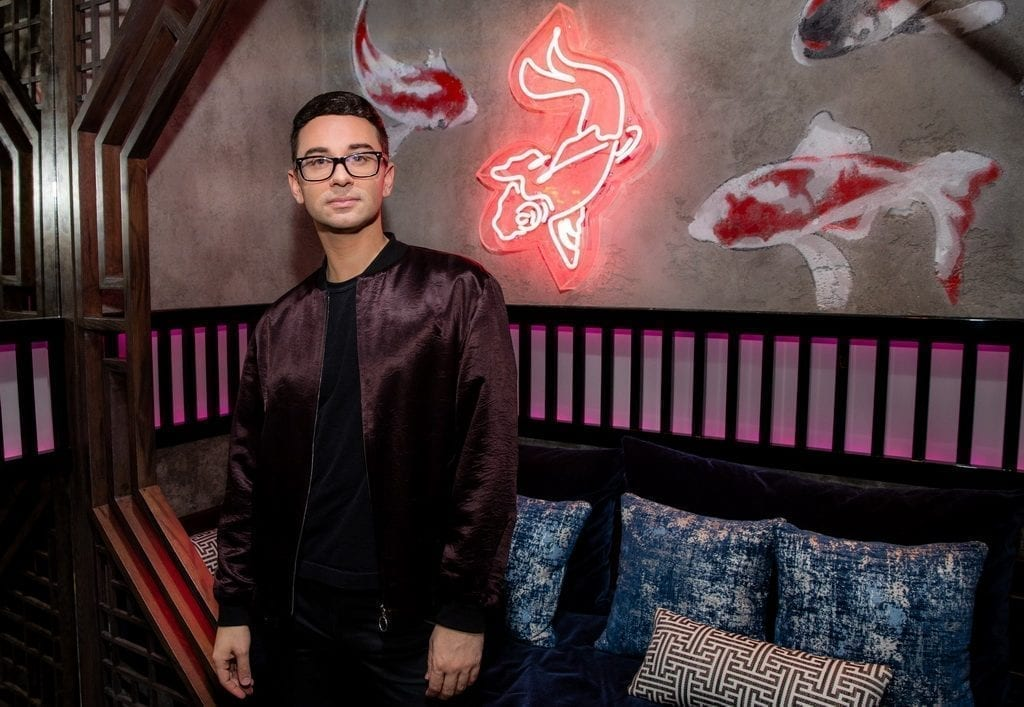Christian Siriano at the Mott 32 grand opening at The Venetian Resort Las Vegas, 12.28.18_Credit Erik Kabik