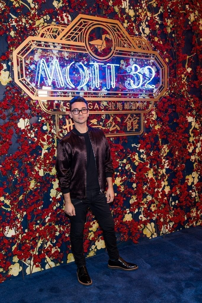 Christian Siriano walks the carpet at the Mott 32 grand opening at The Venetian Resort Las Vegas, 12.28.18_credit Brenton Ho