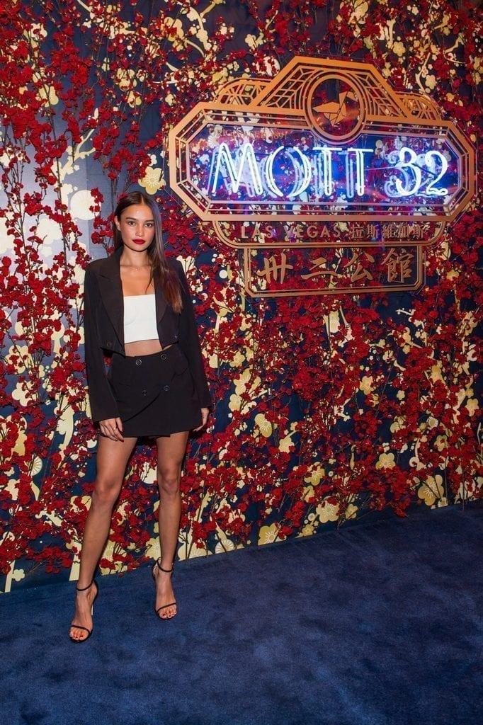 Kelsey Merritt attends the Mott 32 grand opening at The Venetian Resort Las Vegas, 12.28.18_credit Brenton Ho