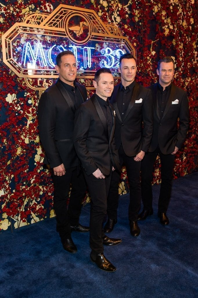 Las Vegas headliners Human Nature walk the carpet during the Mott 32 grand opening at The Venetian, 12.28.18_credit Brenton Ho