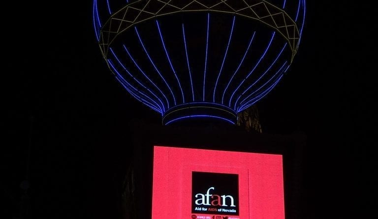 Paris Las Vegas Hotel & Casino goes red for World AIDS Day