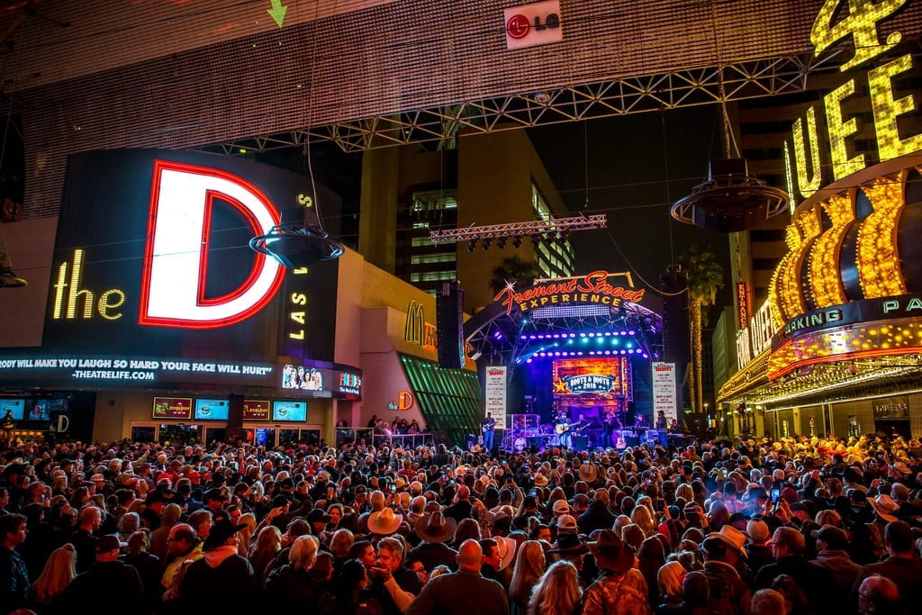 Rodeo fans celebrate return of NFR during 32nd Annual Downtown Hoedown at Fremont Street Experience, 12.5.18