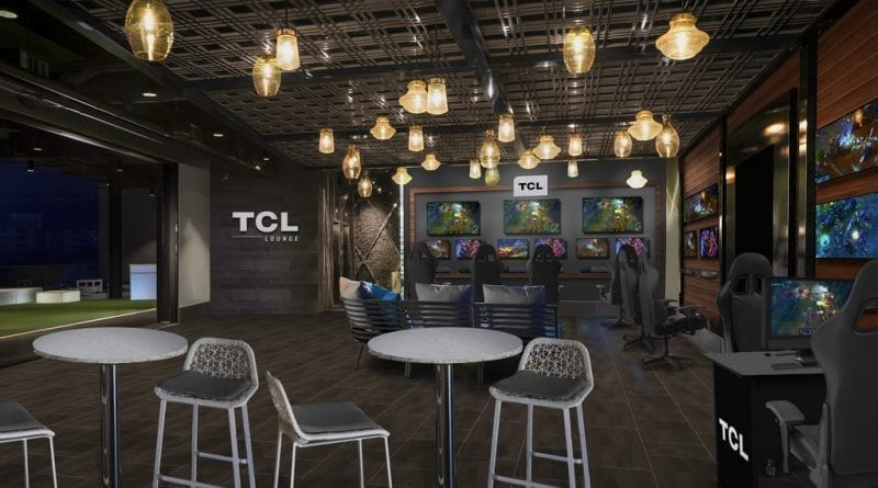 TCL Esports Lounge at Top Golf