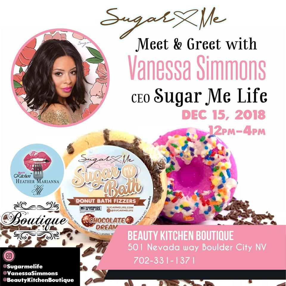 Vanessa Simmons Meet & Greet at Beauty Kitchen Boutique