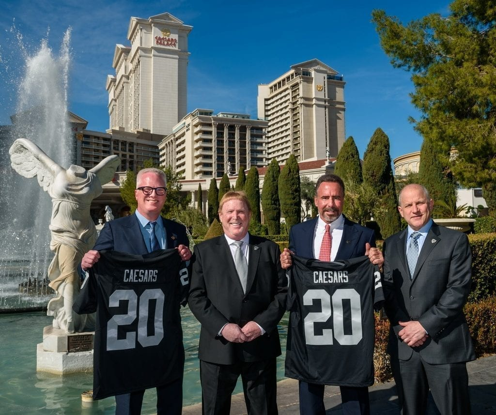 Chris Holdren, Mark Davis, Mark Frissora, and Marc Badain at Caesars Palace