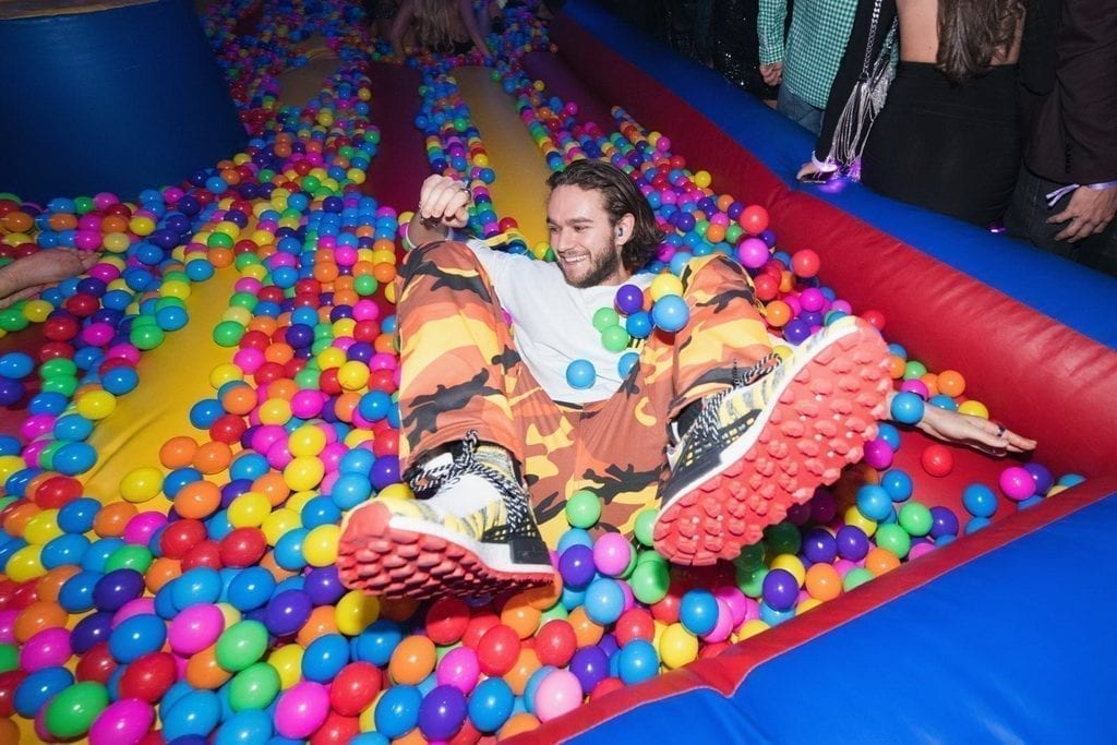 Global Sensation Zedd Plays in Ball Pit of $100k Celebration Hosted by OMNIA Nightclub at Caesars Palace_Photo Credit Wolf Productions