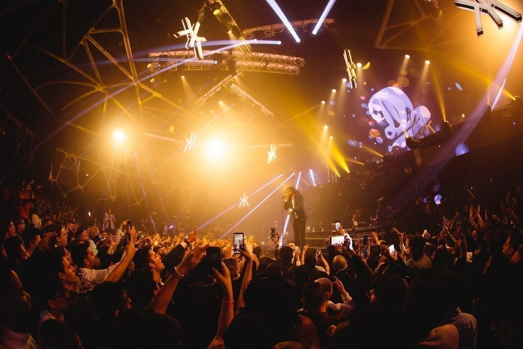 J. Cole Rings in 2019 at the Famed Hakkasan Nightclub Inside MGM Grand Hotel & Casino_ Photo Credit Wolf Productions