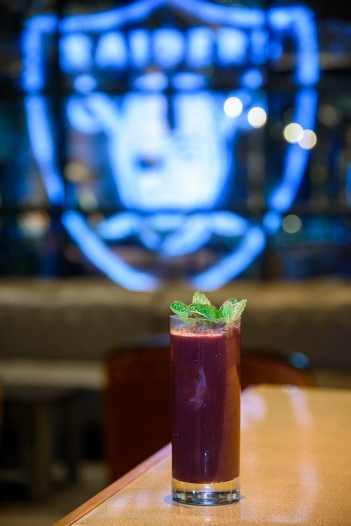 The RaiderNation cocktail, now available at VISTA Cocktail Lounge at Caesars Palace
