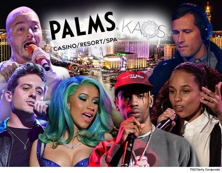 Cardi B  and Travis Scott Headline New Palms Club KAOS