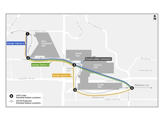 Potential LVCC Loop Station Locations-Final configuration to be determined by the LVCVA Board. Courtesy The Boring Company