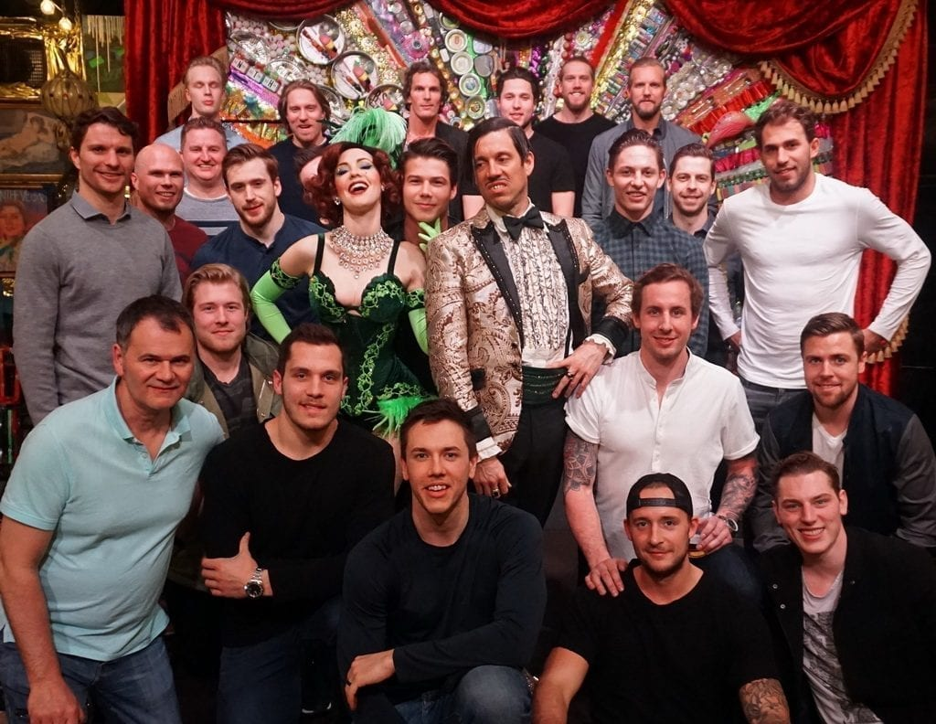 Vancouver Canucks Attend ABSINTHE at Caesars Palace