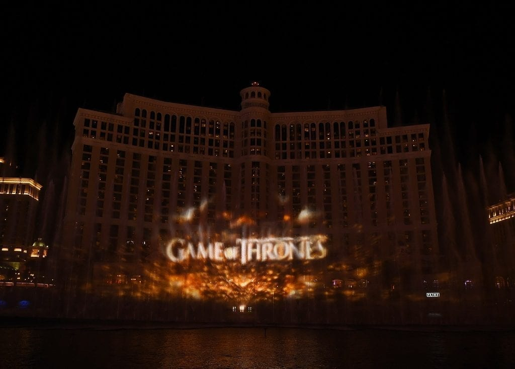 Game of Thrones Takes Over the Fountains of Bellagio
