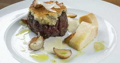 Parmesan Crusted Filet Mignon at MB Steak