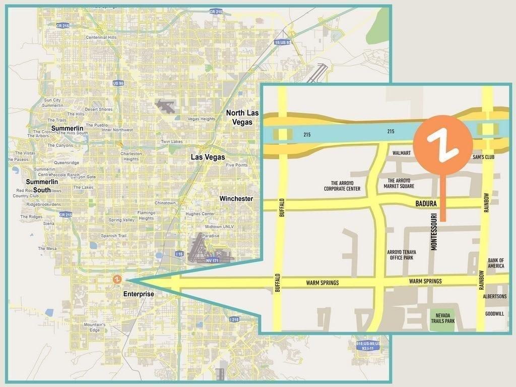Zippy's Las Vegas Map