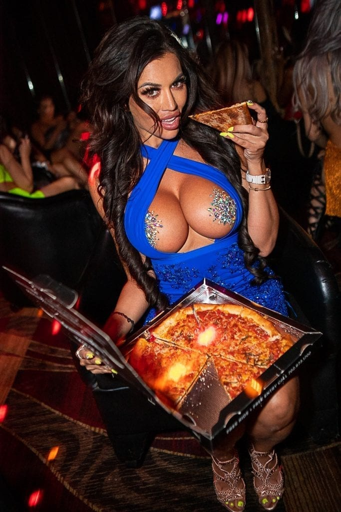 Toochi Kash Eating Pizza at Crazy Horse 3