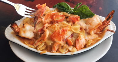 Lobster Mac and Cheese at Pasta Shop Ristorante & Art Gallery