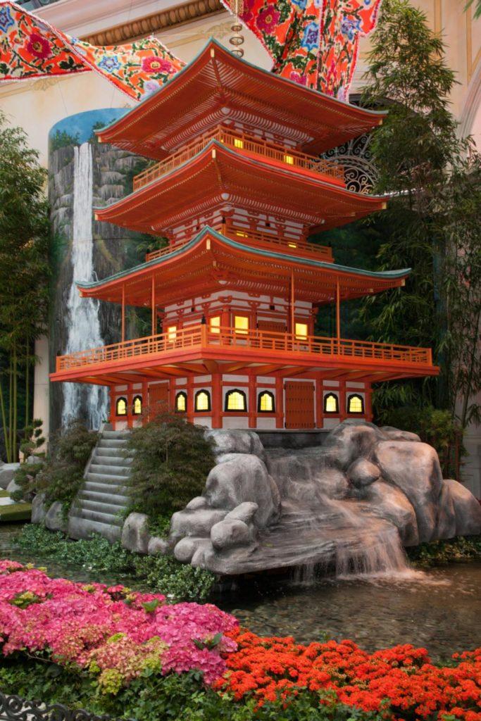 Bellagio Conservatory & Botanical Gardens - Three Story Pagoda