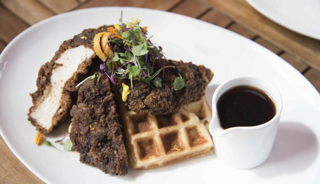 Chicken & Waffles at DW Bistro