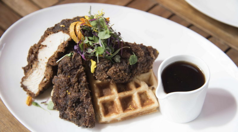 Chicken & Waffles at DW Bistro
