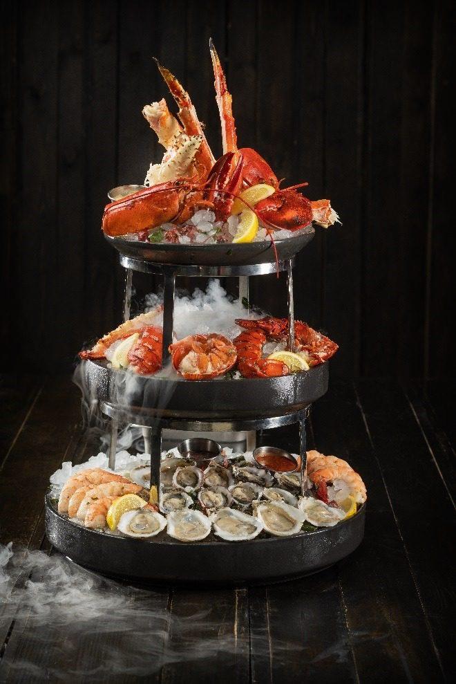 Premium seafood tower