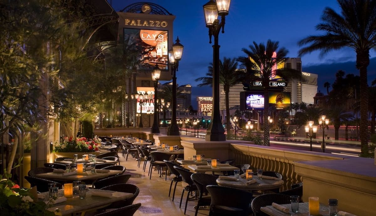 LAVO Terrace at Night