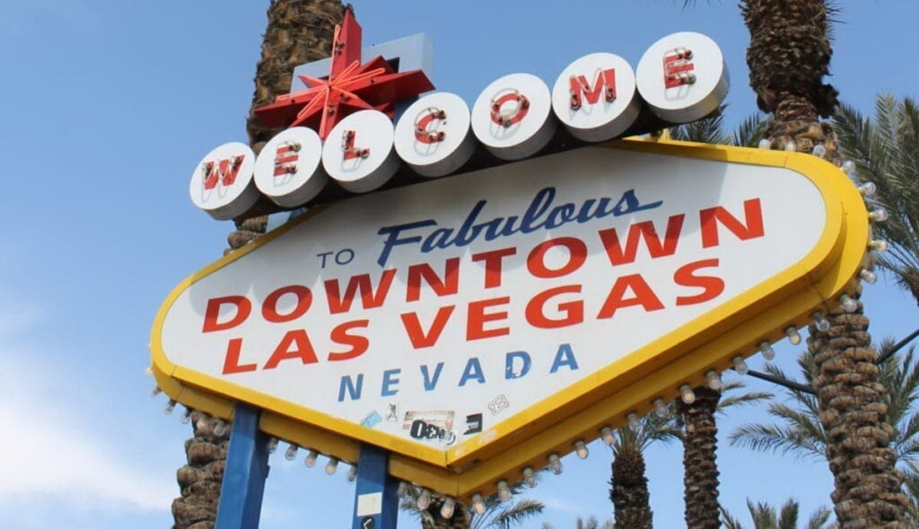 Old Welcome to Downtown Las Vegas Sign
