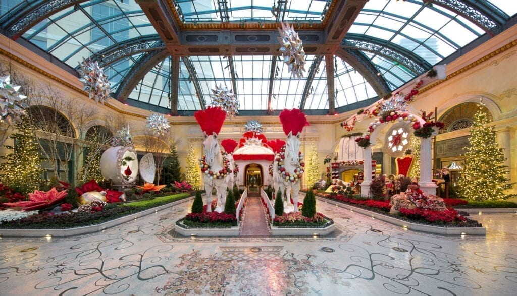 Bellagio Conservatory Winter Display 2020 - East Bed
