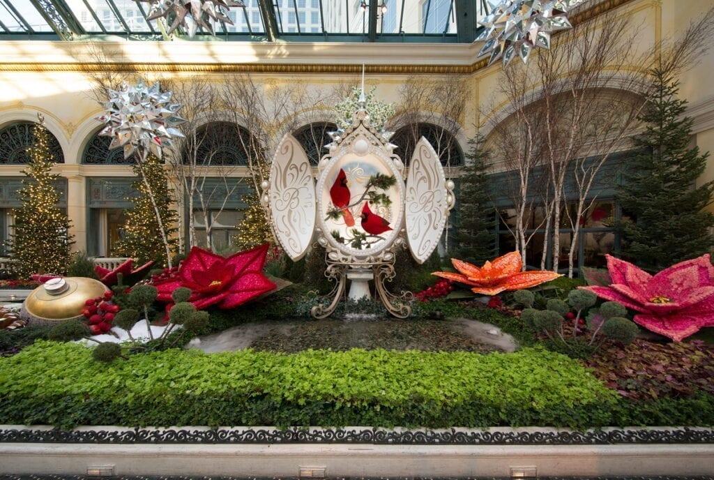 Bellagio Conservatory Winter Display 2020 - North Bed