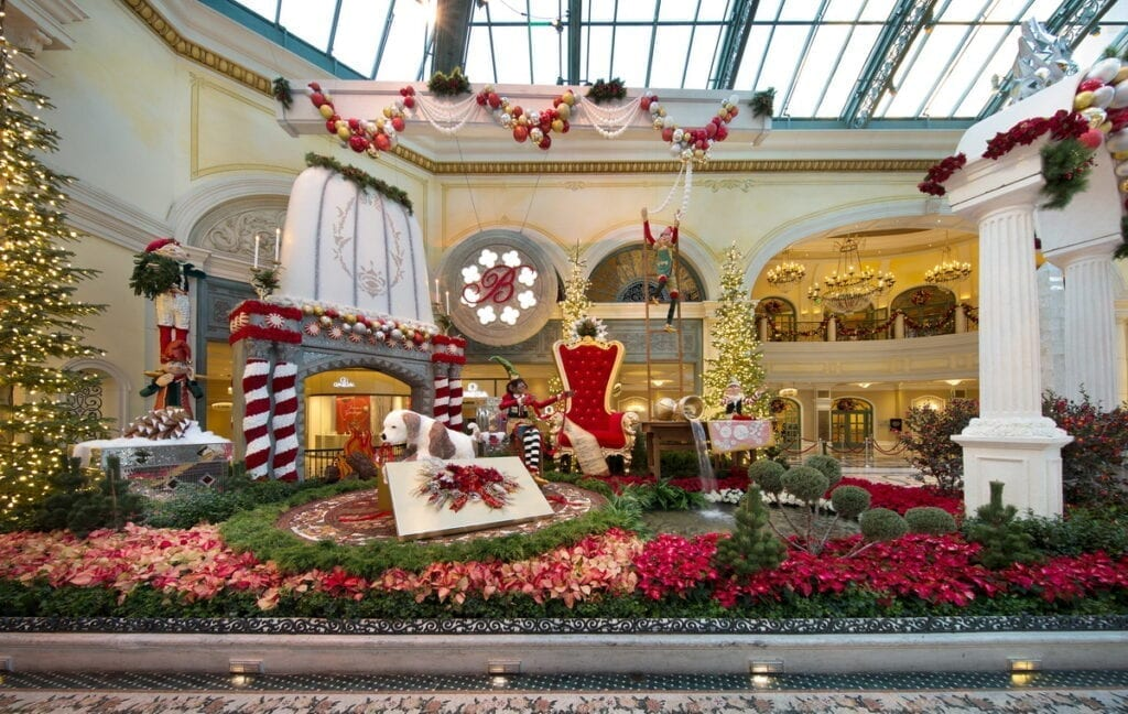 Bellagio Conservatory Winter Display 2020 - South Bed