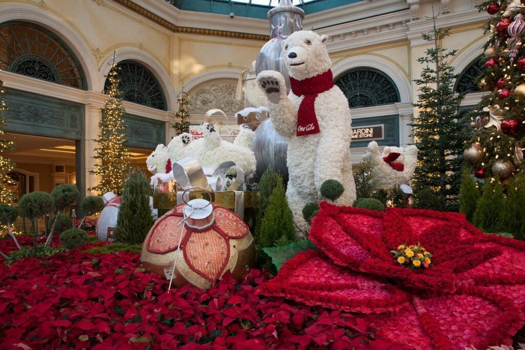 Bellagio Conservatory Winter Display 2020 - West Bed