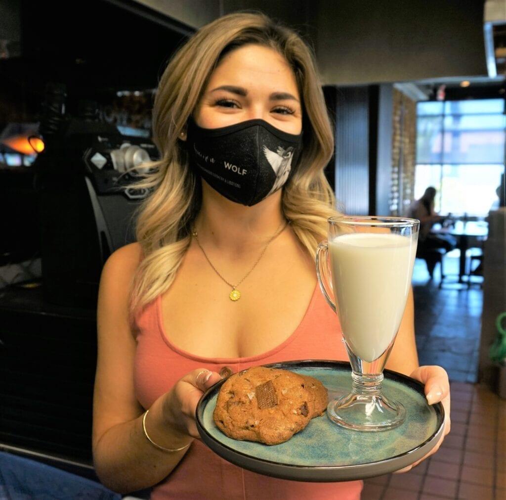 Assistant GM Alyssa Ocampo with Milk + Cookies