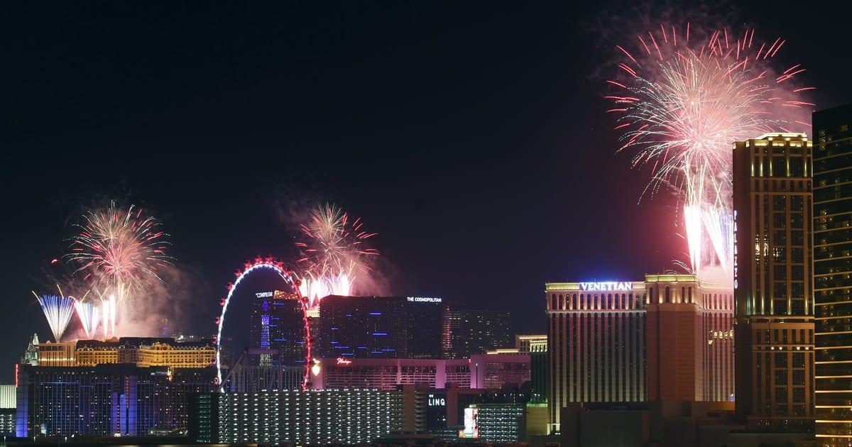 Las Vegas Strip 4th Fireworks