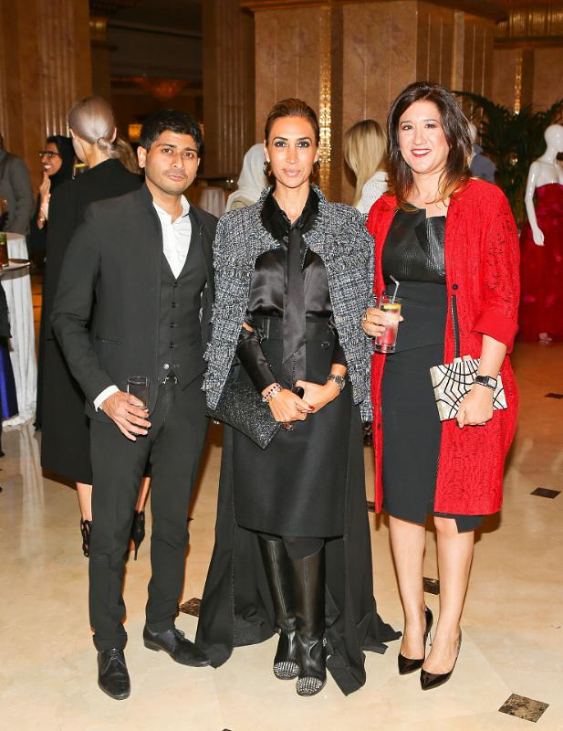 Shashi Menon, Nadine Kanso and Nez Gebreel at Style.com/Arabia and Farfetch Event