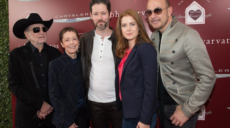 Amy Adams, Darren Le Gallo, John Varvatos, Willie Nelson, and Gail Abarbanel at John Varvatos 11th Annual Stuart House Benefit