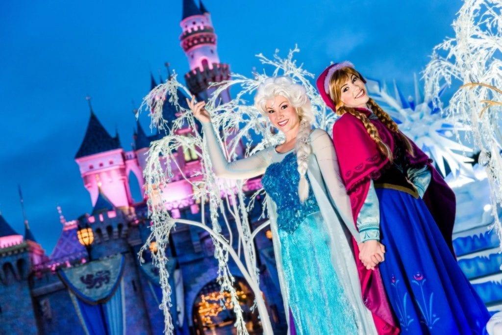 Anna and Elsa have Frozen Fun at Disney California Adventure