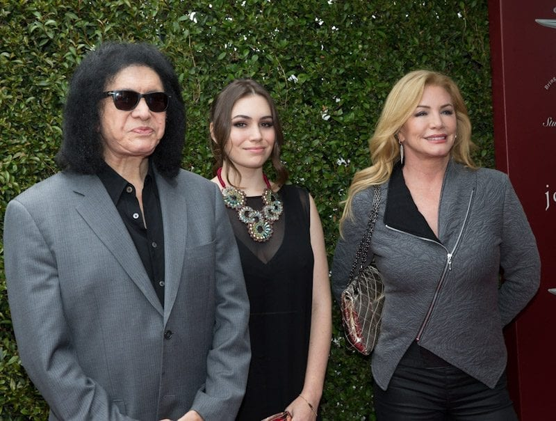 Gene Simmons, Sophie Simmons, and Shannon Tweed at John Varvatos 11th Annual Stuart House Benefit