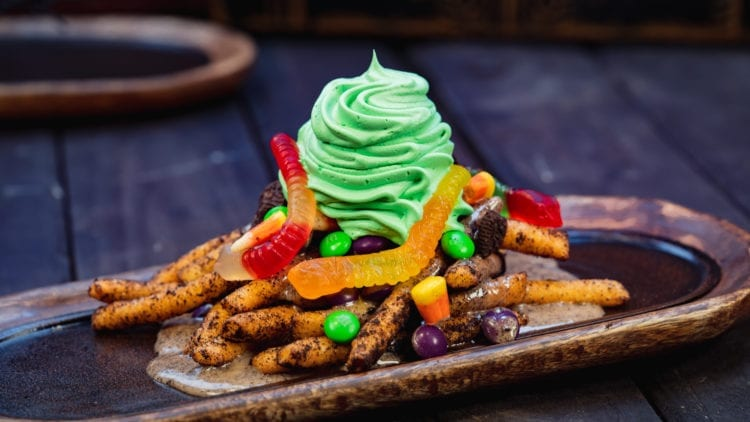 Halloween Time Treats - Oogie Boogie-Inspired Funnel Cake Fries