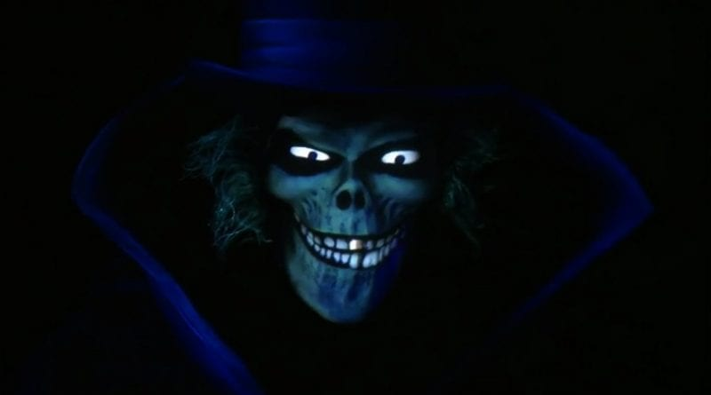 Hatbox Ghost inside Haunted Mansion at Disneyland