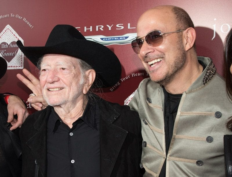 John Varvatos and Willie Nelson at John Varvatos 11th Annual Stuart House Benefit