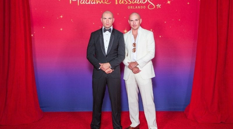 Pitbull at Madame Tussauds Orlando