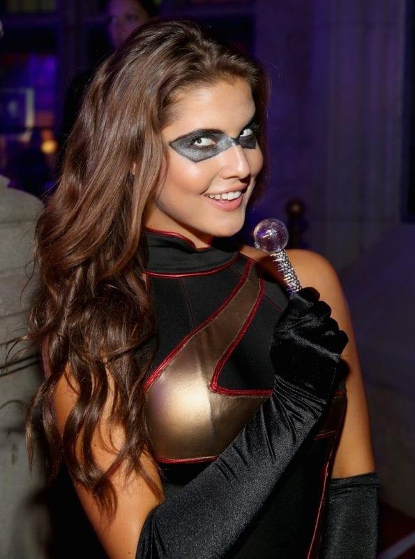 Playmate Amanda Cerny attends Playboy Mansion's Annual Halloween Bash