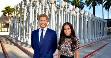 Prince Harry and Meghan Markle at Urban Light